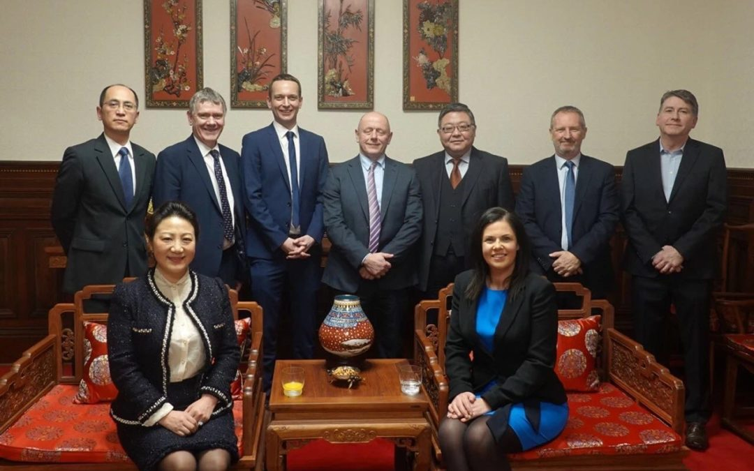 Consul General Zhang Meifang Meets with Representatives of the Northern Ireland Government and Enterprises